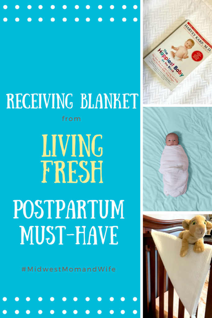 Receiving Blanket from Living Fresh: Postpartum Must-Have